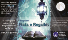 KMSH, program solemn në natën e Regaibit në Xhaminë Ethem Beu