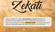 Njoftim ne lidhje me Zekatin dhe se Sadakan e fitrit e cila do jete 300 lek per person