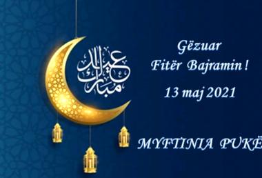 Njoftim: Me 13 maj 2021 eshte festa e Fiter Bajramit