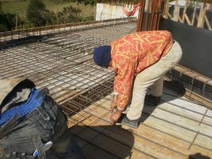 Nga punimet ne xhamin e fshatit Qerret. Tetor 2013