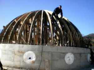 Gjate ndertimit te kubese se Xhamise Qerret