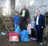 Duke ndihmuar familjen Lusha ne qytetin e Pukes. 29.12.2013