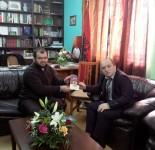 Myftiu i Pukes Gezim Kopani gjate nje vizite pune ne Myftinine Shkoder. 08.01.2014