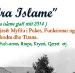 "Projekti i thirrjes islame ""Drita Islame"" gjate vitit 2014"