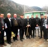 Myftiu i Pukes Gezim Kopani sebashku me antaret e Keshillit te Myftinise Puke Fush-arrez 14 janar 2014