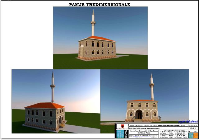 Pamje nga Projekti 3D (Xhamia e vjeter Koder Hani Puke)